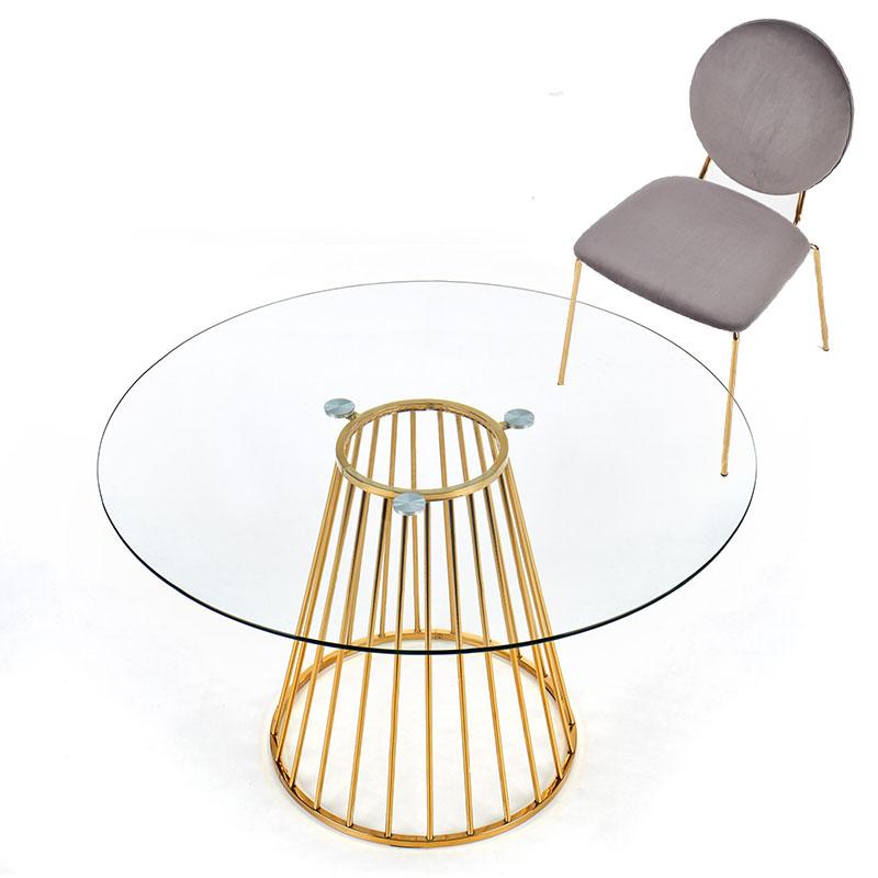 Stiklinis apvalus stalas